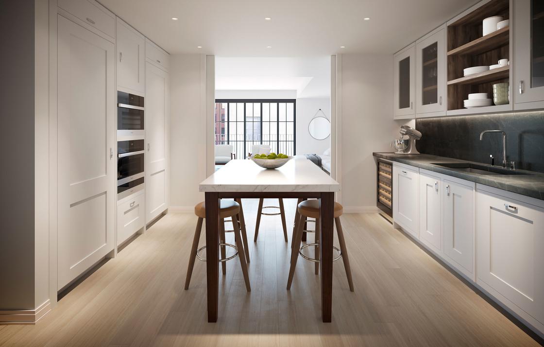 Meticulously designed and beautifully finished, the kitchens include doors that can be closed for privacy or opened to create a seamless flow between rooms.